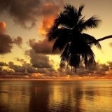 Закат солнца на Сейшельских островах